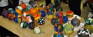 Pumpkins on Table