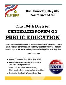 Candidates Forum Flyer 5-8-14